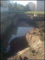 im Grundwasser Baggern